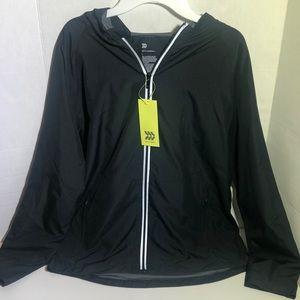 Boy's Lightweight Black Rain Jacket w/ Hood